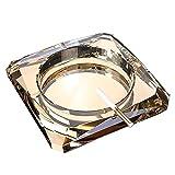 LIXBB HAOYANGYHG- Cristal de Cristal Cenicero Creativo Cenicero Cenicero Inicio Bar Decoración Artesanía Accesorios de cigarros YHGGHJG-70 (Color : Gold, Size : 15CM)