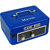 Personalized Boys with Name only Childrens Blue Cash Box