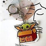 Neaer Llavero Babyyoda Llavero Bebe Llavero Anime Kawaii Accesorios Baby Yoda (Color: Xiangzi)