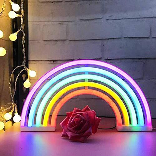 Rosepoem Luz nocturna LED arcoíris para niños creativa bonita luz de neón, colorida de silicona, lámpara de guardería para bebé, niños, dormitorio, guardería, Navidad, fiesta de cumpleaños