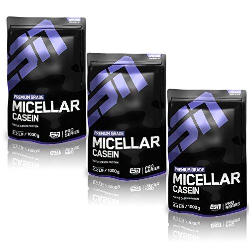 ESN Micellar Casein, Chocolate, 3er Pack (3 x 1000g)