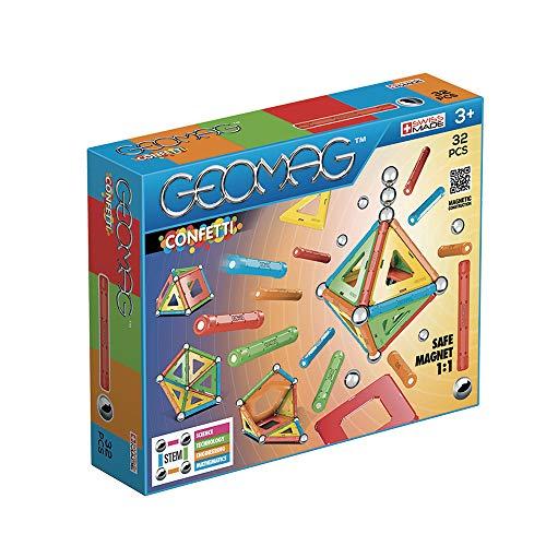 Geomag- Confetti Construcciones magnéticas y Juegos educativos, Multicolor, 32 Piezas (350)