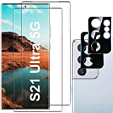 Galaxy S21 Ultra Screen Protector, 9H Tempered Glass, Ultrasonic Fingerprint Compatible,3D Curved, HD Clear for Samsung S21 Ultra 5G Glass Screen Protector