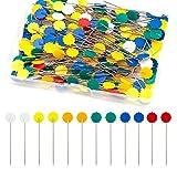 TOYMIS 200 Piezas Alfileres Planos De Cabeza De Flor Con Una Caja De Almacenamiento Colores Surtidos Alfileres Decorativos Para Modistas Proyectos De Costura
