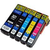 5 kompatible XL Druckerpatronen mit Füllstandsanzeige für Epson Expression Premium XP-510 XP-600 XP-605 XP-610 XP-615 XP-700 XP-710 XP-800 XP-810 Patronen kompatibel zu T2621 T2631 T2632 T2633 T2634