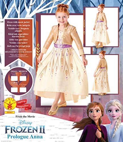 Rubie's 300461 - Costume da Frozen, 9-10, per bambina, multicolore