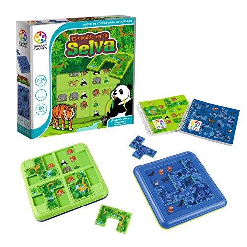 Games-SG105ES Smart Games-Escondite en la Selva, educativo para niños, juegos de mesa infantiles, niño, smartgames, juguete puzzle para pequeños (Ludilo SG105ES)