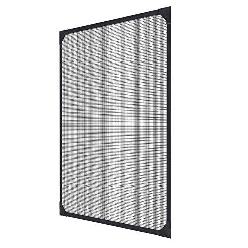 Sekey Tailorable Magnetischer Fenstergitter, für Mücken-, Fliegen- und Insektenschutzmittel, Insektenschutzgitter-Kit mit Magnetstreifen, 110x130cm, werkzeuglose Montage, Grau