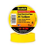 Scotch Vinyl Color Coding Electrical Tape 35, 1/2 in x 20 ft, Yellow