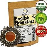 English Breakfast Tea, CRISP, RICH & AROMATIC well-rounded loose leaf tea, 110+ cups, 8oz Organic...