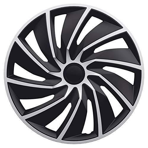 AutoStyle SILVER/BLACK Satz Radzierblenden Turbo 16-Zoll Silber/Schwarz