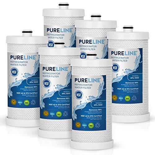 Pureline WF1CB Refrigerator Water Filter Replacement for Frigidaire PureSource WFCB, WF1CB, RG100, NGRG2000, WF284, 9910, 469906, 469910 (6 Pack)