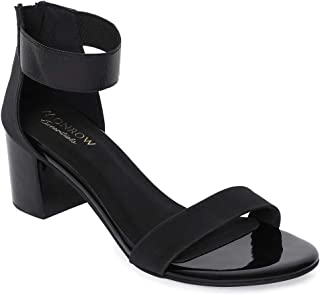 Monrow Tiana Women's Black Block Heel Sandals