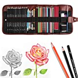 Heshengping, Sketching Pencil Set Drawing Pen Charcoal Sketch Kit Cover Graphite Pencils Charcoal...