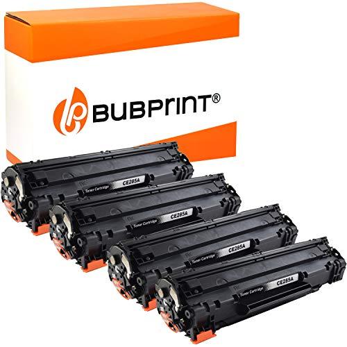 4 Bubprint Toner kompatibel für HP 85A CE285A für LaserJet Pro M1130 M1132 M1136 M1212nf M1217nfw MFP P1002 P1100 P1102 P1102w P1106 P1108 P1109w Schwarz
