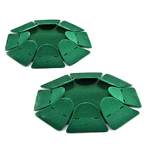2pcs Green All-Direction Putting Cup Golf Training Hole Practing Cup Aid Indoor/Outdoor
