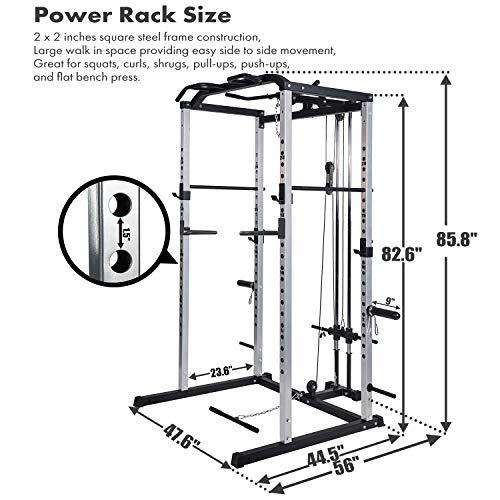 Power Rack Power Cage 1000-Pound Capacity Home Gym