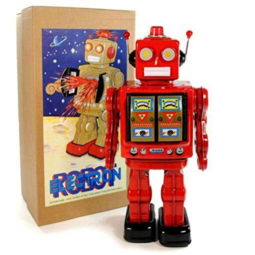Juguete Decorativo de Hojalata Robot Grande China Rojo. Juguetes y Juegos de Colección. Regalos Originales. Decoración Clásica.