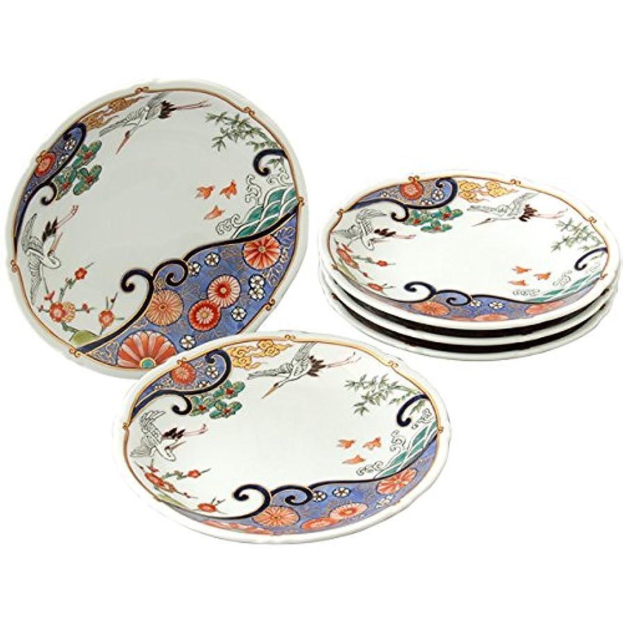 排除する覚えている漏れプレート 皿 : 有田焼 波鶴 銘々皿 セット
