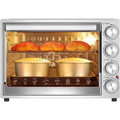 QJJML 40L Convection Oven, Home Baking Multifunctional Full-Automatic Large-Capacity Electric Oven,60 Minutes Timing,Low Temperature Fermentation, Built-In Explosion-Proof Lighting90-230 ° Adjustable