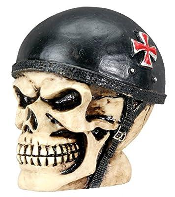 YTC Sm. Biker Skull Collectible Figurine Statue Sculpture Figure Skeleton