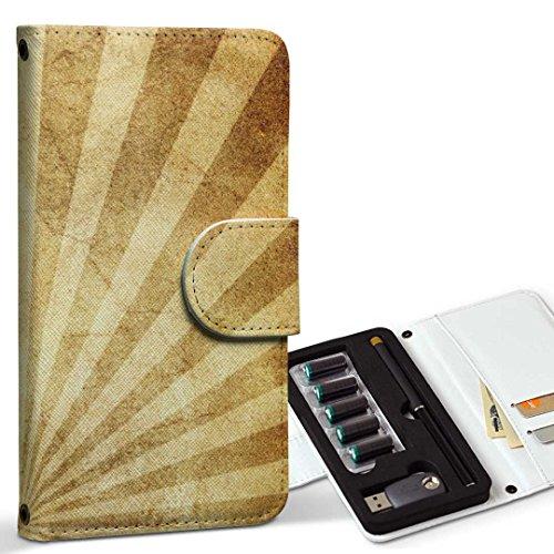 スマコレ ploom TECH プルームテック 専用 レザーケース 手帳型 タバコ ケース カバー 合皮 ケース カバー 収納 プルームケース デザイン 革 その他 ヴィンテージ 柄 001019
