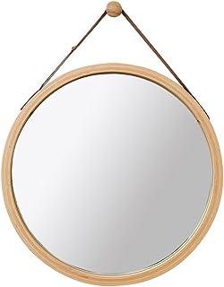 Miroirs de salle de bain Miroir Mural Rond Miroir de Toilette Miroir de Toilette Miroir décoratif en Bois pour Chambre à C...