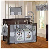 BabyFad Jungle Grey 10 Piece Baby Crib Bedding Set