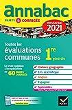 Annales du bac Annabac 2021 Toutes les...