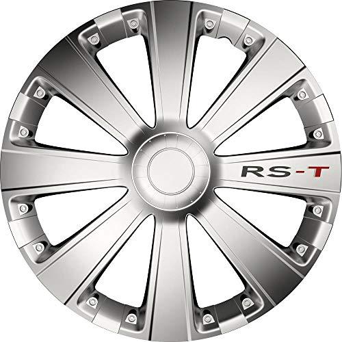 kh Teile Tapacubos de 16 pulgadas RS-T plateados de 16 pulgadas, 2 capas lacadas, juego completo de 4 unidades