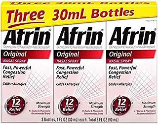 Afrin 12 Hour Decongestant Nasal Spray, Original, 1-Ounce (6 Packs)