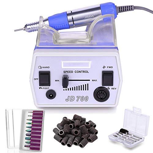Makartt Nail Drill with Nail Bits Bundle, Electric Nail Drill Machine and 10Pcs Nail Drill Bits Set Remove Acrylic Nail