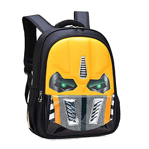 Alipher School Backpack Waterproof Kids Backpack Comic School Bag Student Bookbag Transformer Large Size Yellow