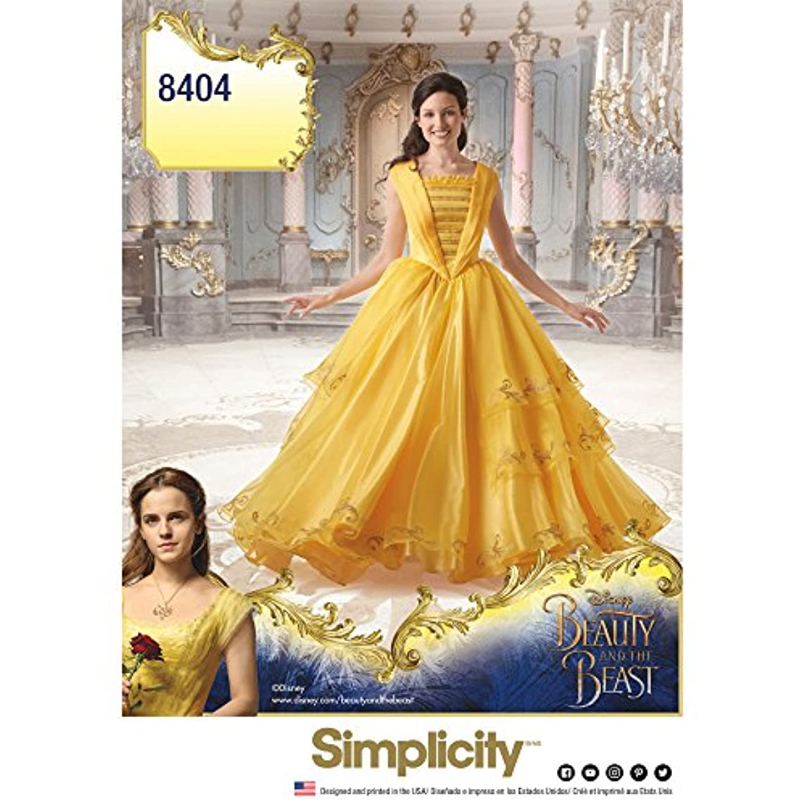 Simplicity Disney Beauty and the Beast Costume for Misses Art and Craft Sewing Template - R5 (14-22)