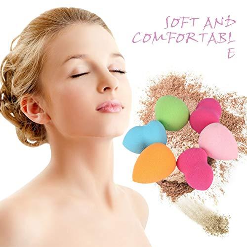 6 pcs Gourde et Goutte Forme Éponge Mélangeur Puff Flawless Poudre Lisse Non-allergène et Sans Odeur-Multicolore