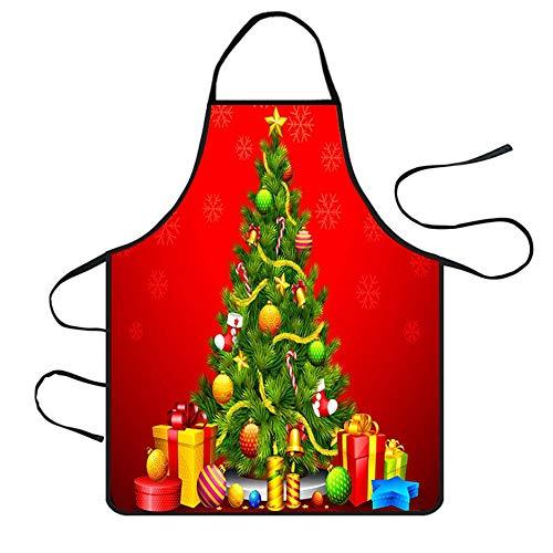 JJFU Schort kerstdecoratie waterdicht schort huishoudelijke schoonmaakmiddelen keukenaccessoires schorten kerstsessen party aprons_S