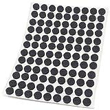 Adsamm®   108 x almohadillas de fieltro   Ø 10 mm   negro   redondo   Protectores de suelo para patas de mueble   auto-adhesivos   con grosor de 3,5 mm de la máxima calidad