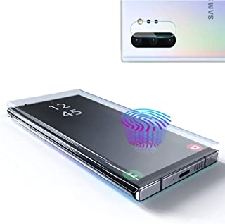 Galaxy Note 10 Screen Protector Tempered Glass, Include a Camera Lens Protector with [Case Friendly] [Full Screen] [HD Clear] [Touch Responsive] for Note10 [6.3 inches]