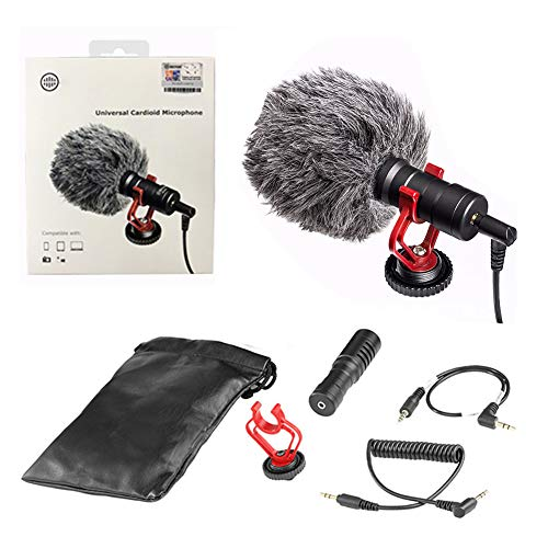 DHQSS Video Record Microfoon Compact On-Camera Youtube Opname Mic voor iPhone Nikon Canon DSLR Smooth Mobiele telefoon SLR Camera Universele Gun-type Microfoons