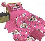 Perlarara - Copriletto Singolo Bambina Unicorno | Trapunta Estiva Letto Singolo Bambini Rosa 170x260 cm | Trapuntino Singolo Primaverile per Bimbi in microfibra