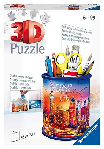 Ravensburger 3D Puzzle 11201 - Utensilo Skyline - 54 Teile - Stiftehalter für New York Fans ab 6 Jahren, Schreibtisch-Organizer für Kinder
