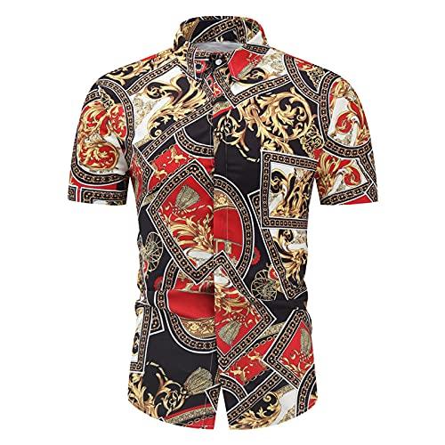 SSBZYES Camisas para Hombre Camisas De Verano De Manga Corta Camisas De Talla Grande Camisas De Manga Corta para Hombre Camisas Estampadas Playa Camisas Florales De Manga Corta