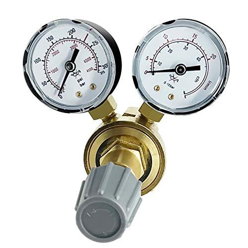 Universeler Druckminderer für Gasflasche Schutzgas Argon CO² Helium W 21,8 x 1/14