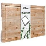 joeji's Kitchen Tabla de Cortar Cocina de bambú Premium | Tabla de Cortar de Madera Duradera | Tabla Cortar Cocina 44.5cm x 30cm x 1.5cms