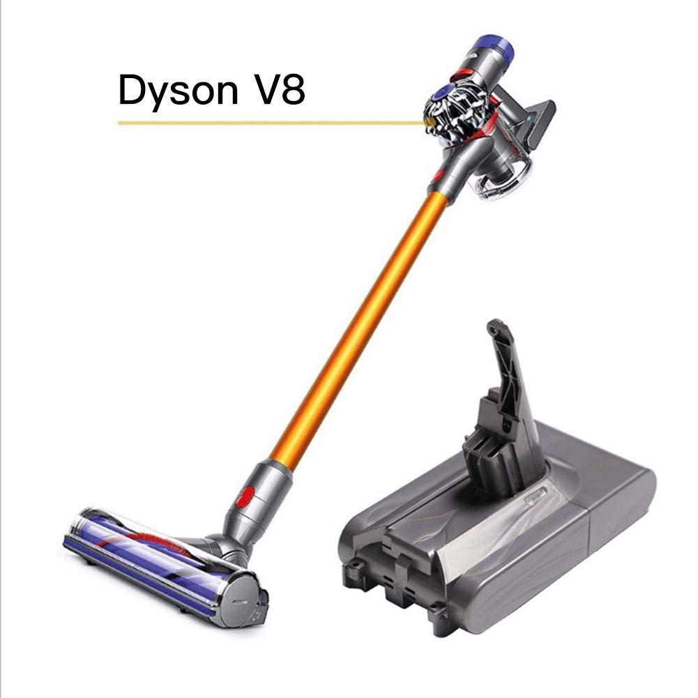 Earthily Batería de repuesto para Dyson V8 Animal Dyson V8 Fluffy Dyson V8 Absolute Handheld Aspiradora Repuestos, 21.6V 4000mAh in style: Amazon.es: Hogar