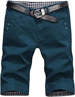NestYu Men Casual Straight Solid Half Pants Fashion Combat Short Pants