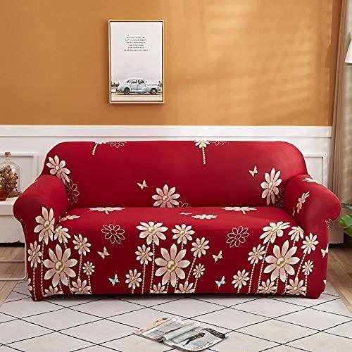 Meubelbeschermer Bank Bankstelhoes 2-zits en 4-zits, geometrie geruite kussenovertrekken Stretch bankhoezen voor woonkamer, elastische bank stoelhoes Bankhanddoek 2 stuks