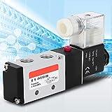Duokon Électrovanne pneumatique électrique, 2 équipements pneumatiques pneumatiques de la vanne électromagnétique pneumatique 4V210-08 de la Position 5 de manière 5(24V)