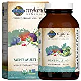 Garden of Life mykind Organics Whole Food Multivitamin for Men 40+, Vegan Mens Multi for Health & Well-being Certified & Minerals for Men Over 40 Mens Vitamins, 120 Tablets