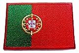 b2see Iron on Bügel Aufnäher Fahne Patches Flicken Aufbügler Bügelbild Applikation Sticker-Ei Flagge Porto Portugal Gross 8,5 x 5,5 cm